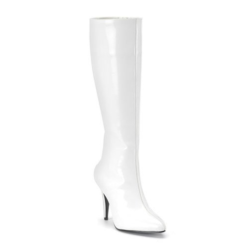 LUST-2000/2001, Women's 3 3/4 Heel Stretch Knee Boot in Patent, PU or Sequins by Funtasma Perfect for Halloween or Theatre Costume