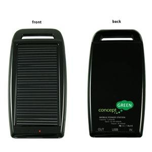 Concept Green Energy CGS1250B Solar Charger 1250 mAh Black