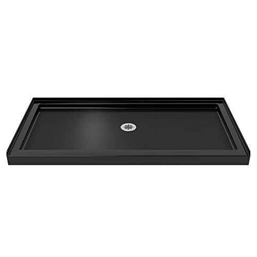 DreamLine DLT-1132600-88 SlimLine Single Threshold Shower Base with Center Drain, Black Finish, 32