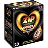 100 Zip 'Energy' Wrapped Firelighters No mess, no smell, just light the wrapper 90714