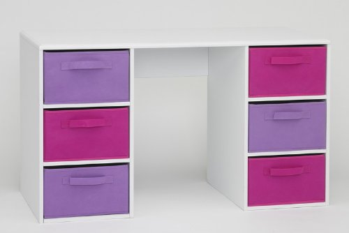 4D Concepts Girl'S Student Desk, White front-61739
