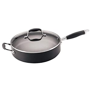 Anolon Advanced Hard Anodized Nonstick 12-Inch, 5-Quart Covered Saute Pan by Anolon