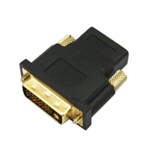 Dvi-D Male To Hdmi Female 24K Gold Converter Adapter For Lcd