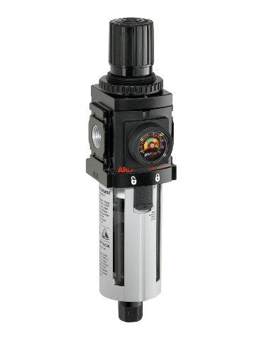 Ingersoll Rand P39234-600-Vs 3/8-Inch Filter-Regulator Piggyback, Black/Gray front-248378