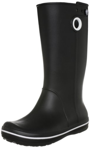 Crocs Women's Crocband Jaunt Black Wellington Boot 10970-001-460 6 UK