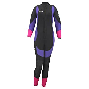 Beaver Sports Marbella Scuba Diving 5mm Ladies Semi Dry Wet Suit - Pink [Pink - LS]