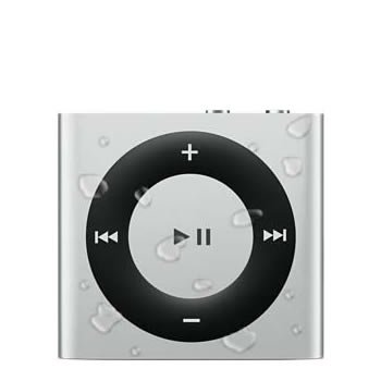 AudioFlood Waterproof iPod Shuffle Silver 5th Gen