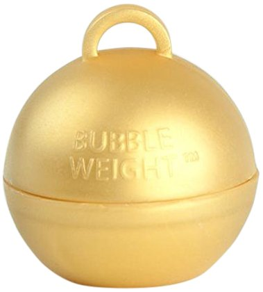 Bubble Weight 35 g Balloon Weight Metallic Gold (10 Piece)