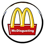 "1"" Vegetarian ""McDisgusting"" Button/Pin"