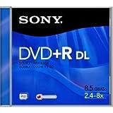 Sony DVD + R DL 8.5Go 2.4-8X boîtiers dpr85r2DVD double couche (Lot de 2)