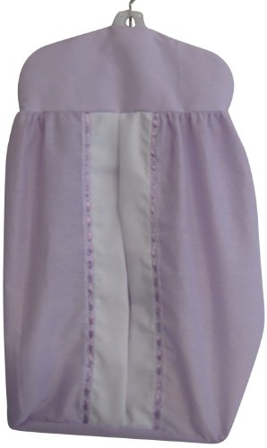 Baby Doll Bedding Regal Diaper Stacker, Lavender