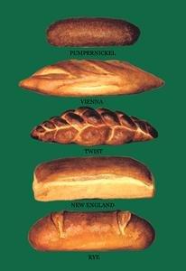 Pumpernickel, Vienna, Twist, New England, and Rye Breads