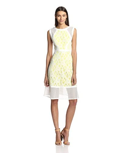 Julia Jordan Women's Sleeveless Lace & Eyelet Fit-and-Flare Dress