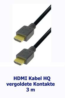 hdmi kabel hq vergoldete kontakte schwarz 3 m satelliten komplettanlage kaufen. Black Bedroom Furniture Sets. Home Design Ideas
