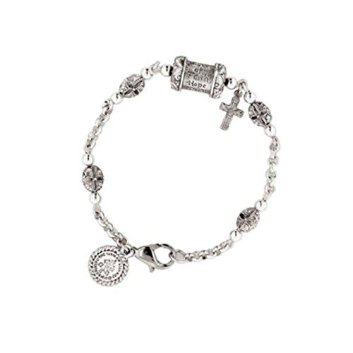Vatican Silver Prayer Bead Bracelet