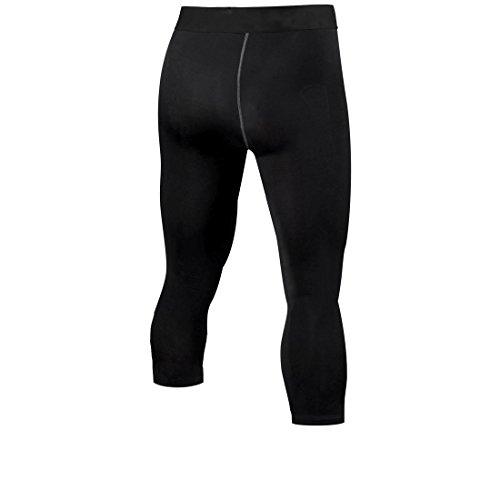 Men's Compression Running Fitness Tights Pants Base Layer Leggings,Black,Medium