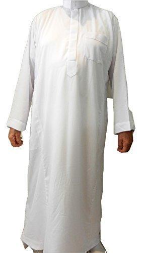Wüsten Herren Kleid Formelle Farbe Sommer Kaftan Gewand Paintbal Arabia DiashDasha Jubba Qatar Oman - --, Weiß