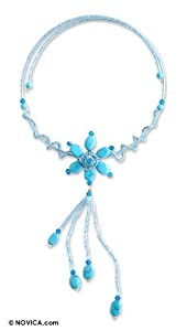 Turquoise choker, 'Comet Flora'