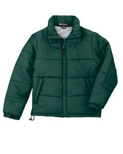Harriton Men'S Stadium Jacket - Dark Green, Large