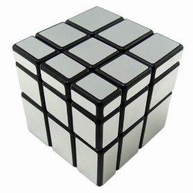 YJ Mirror Cube 3x3 Silver Black