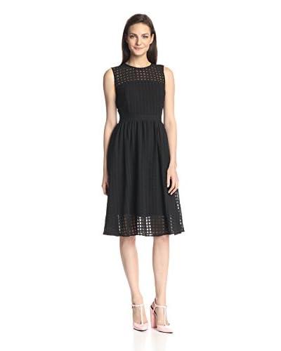 Donna Morgan Women's Grid Print Fit & Flare Dress