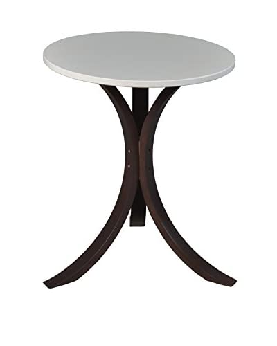 Niche Mia End Table, Mocha Walnut/Beige