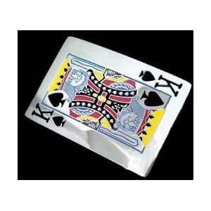 The Ultimate Texas Holdem Belt Buckle The King of Spades Belt Buckle for Poker Player Gifts