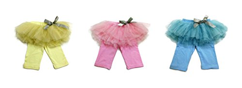 Rush Dance Ballerina Girls Summer Dress-Up Costume Recital Tutu & Pants with Bow