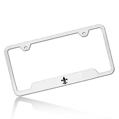 Louisiana Fleur-de-Lis Polished Steel License (Louisiana License Plate Frame compare prices)