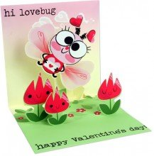 3D Greeting Card - LOVE BUG - Valentine's