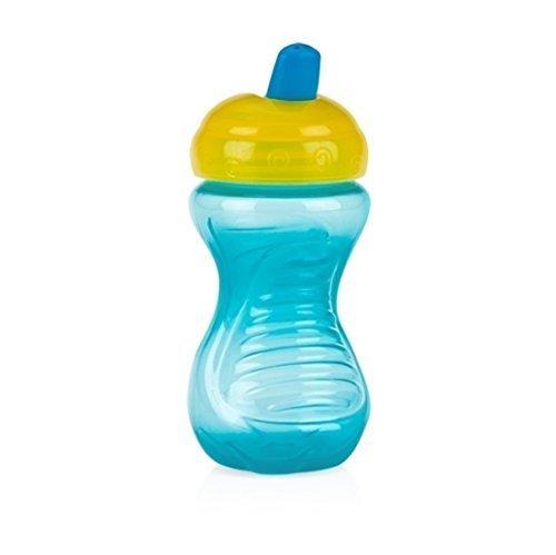 Nuby semplicemente 300611st Sipeez Freeflow Bicchiere Bottiglia con beccuccio senza BPA Easy Grip Tazza Resistente per facile Bite primo sorso da 6mesi. Assortiti