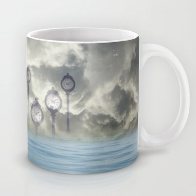 Society6 - Time Is Floating Coffee Mug By Anne Seltmann