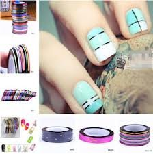 Nail Art Stripes Nail Art Stripes Tape Zierstreifen Packung mit 10 Rollen Striping Tape in verschiedenen Farben + 100 fusselfreie Tücher für Nägel und Haut von Boolavard