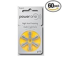 PowerOne Mercury Free Hearing Aid Batteries Size 10
