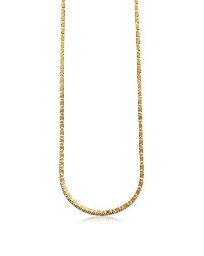 Juinsix Made in Italy Collection Two Tone Diamond Cut Box Chain As You See
