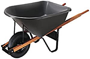 Ames True Temper True Temper CP6 25SB 6 Cubic Foot Poly Tray Contractor Wheelbarrow (Discontinued by Manufacturer)