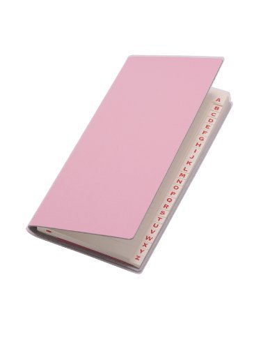 paperthinks-rose-pink-recycled-leather-long-address-book-3-x-65-inches-pt93952-by-paperthinks