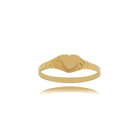 Heart Ring in 10K Yellow Gold for Babies and Children