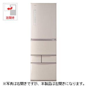 東芝 426L 5ドア冷蔵庫(パールピンク)【左開き】TOSHIBA VEGETA ベジータ GR-G43GL-P