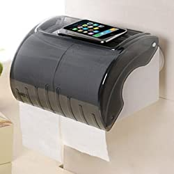 Haneez Tissue Paper Roll Holder / Dispenser, Bathroom Tissue Holder With Power Suction Cup for Rental Homes, Good Quality and Fashionable