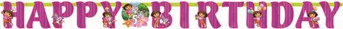 Dora The Explorer Flower Adventure Add-An-Age Banner - Party Supplies - 1 per Pack