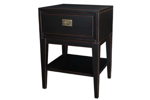 Antique Revival Colbert Lacquer Sidetable, Black