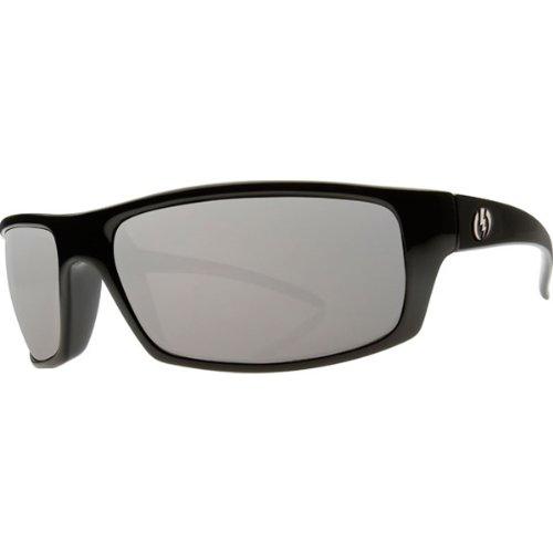 Electric Visual Technician Sunglasses - Electric Visual Men'S Polarized Designer Eyewear - Gloss Black/Grey Silver Visual Evolution / One Size Fits All