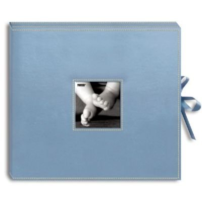 SCRAPBOOK BOX W/RIBBON BABYBLU Papercraft, Scrapbooking