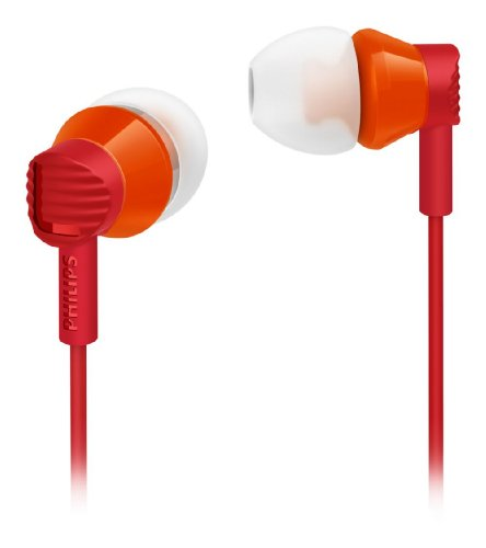 Philips She3800rd In-ear Headphones Extra Bass She3800 red ovleng ip630 in ear earphone w microphone black silver