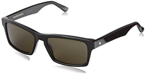 Electric Hardknox Ee12201603 Polarized Rectangular Sunglasses,Gloss Black,55 Mm