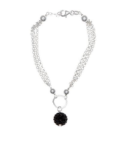 My Silver Pulsera Diamantada Onix