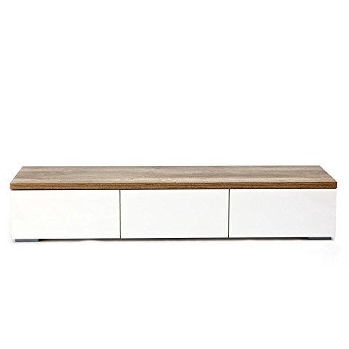 Lowboard-mit-3-Schubladen-Holz-weinatur-ca-H31-x-B165-x-T35-cm