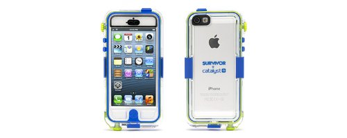 Great Price Griffin GB36203 Survivor Waterproof and Catalyst for iPhone 5 - Retail Packaging - Blue