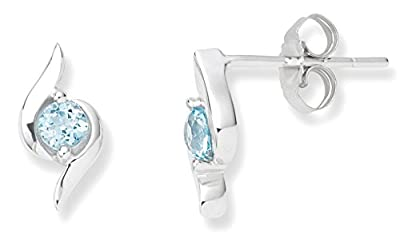 Miore 9 ct White Gold Studs Earrings